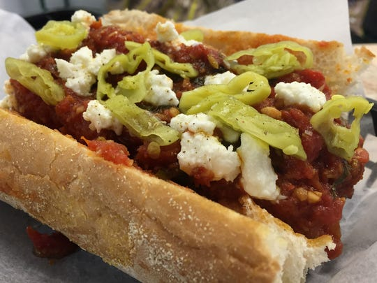 The meatball sub at new Bent Rail Brewery on the Monon Trail near Broad Ripple