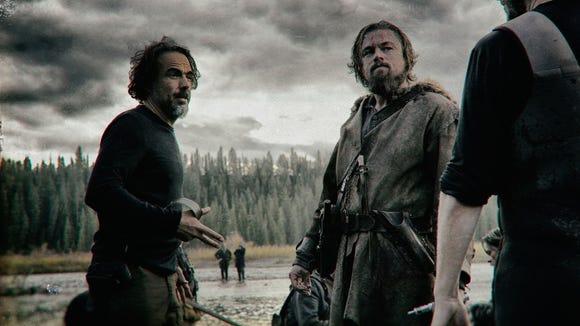 Leonardo DiCaprio and Alejandro González Iñárritu in