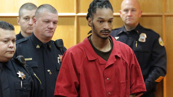 Johnthony Walker, the driver involved in a school bus crash that killed six children, appears in Hamilton County Court on Nov. 21, 2017.