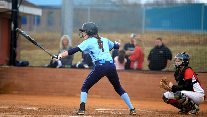 Jasmine Palmer (7) is one of the top players for the Enka softball team.