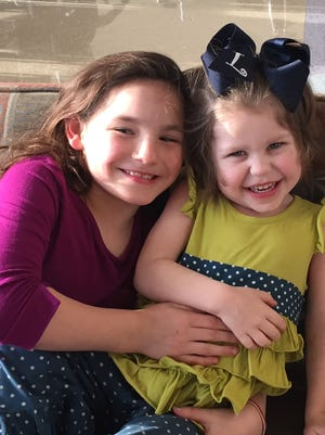 Anni Felts (left) and Lucy Beyers underwent life-saving heart surgery at Riley Hospital for Children.