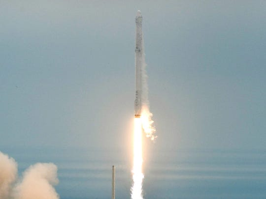 The SpaceX Falcon 9 rocket launched from Kennedy Space