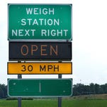 Truckers Weigh Station Highway Sign
