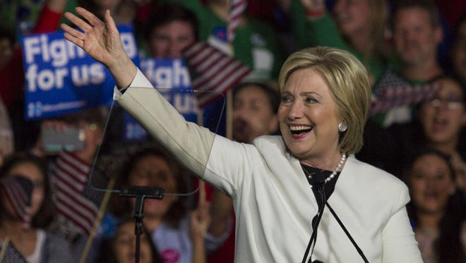 Democratic presidential candidate Hillary Clinton addresses supporters March 1 in Miami.