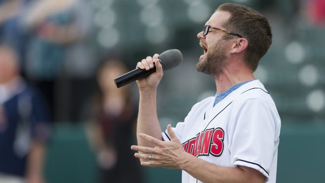 """Josh Kaufman, who sang """"The Star-Spangled Banner"""" at this year's home opener for the Indianapolis Indians, will perform on April 25 at The Vogue."""