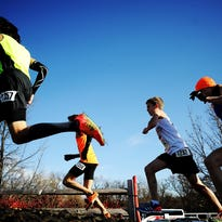 Runners participate during the Nike Heartland Regional at Yankton Trail Park in 2013.