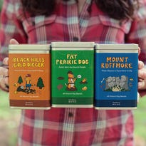 Shop Dog & Co. has launched a line of South Dakota-themed dog biscuit treats.