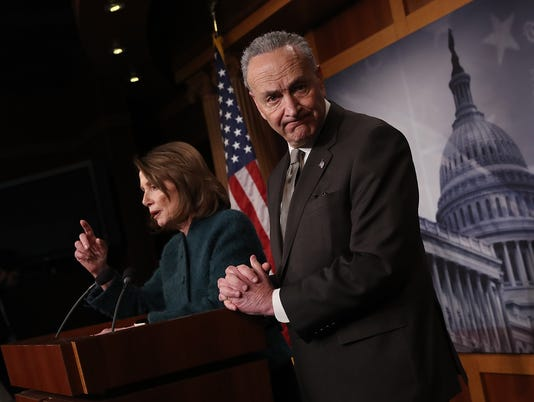Nancy Pelosi And Chuck Schumer Hold news conference On Omnibus Spending Bill