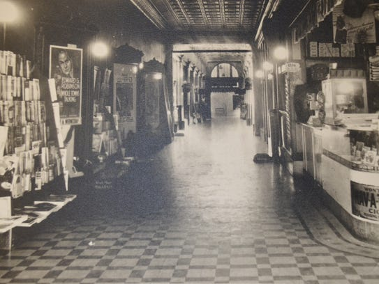 A view of the Arcade from First Street in 1935