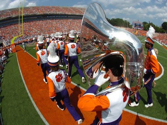 Clemson's band before the Tigers game against The Citadel