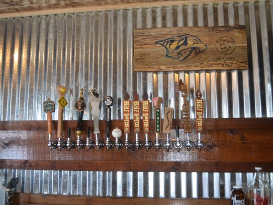 The bar at White House Pizza & Pub features 16 Tennessee