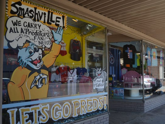 Cheryl Jenkins painted this Preds-themed sign featuring