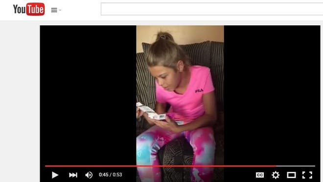 Screen grab of the YouTube video of  a 14-year-old transgender teen from Detroit who had been waiting years for hormone therapy.