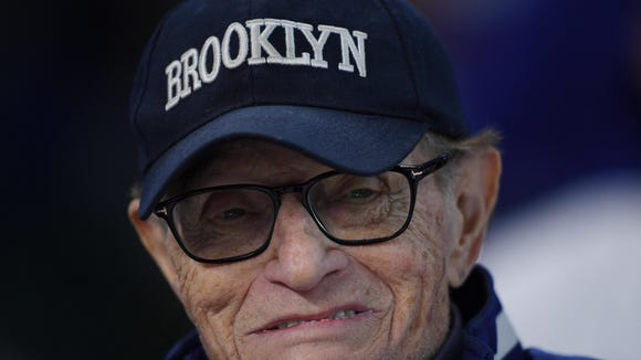Larry King at Game 5 on Oct 29, 2017.