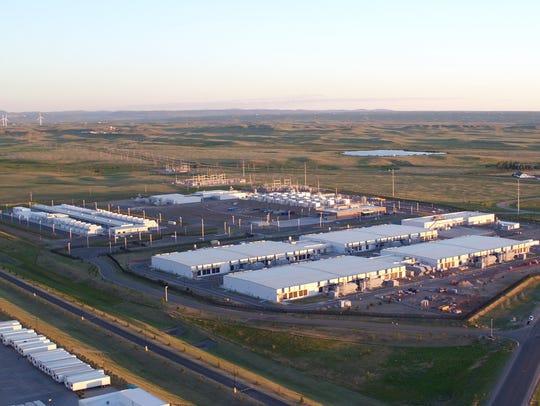 A Microsoft wind project near its data center in Cheyenne,