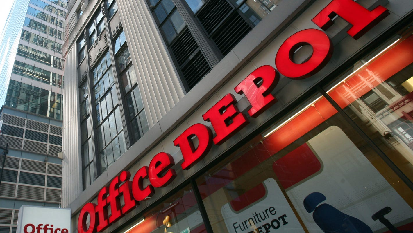 Bathroom Signs Office Depot office depot's future doubted as amazon effect hurts business