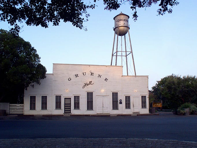 Gruene Hall in Gruene, Texas, calls  itself the state's oldest dance hall.  Located in a former ghost town, the white clapboard saloon helped launch stars from Lyle Lovett to George Strait.
