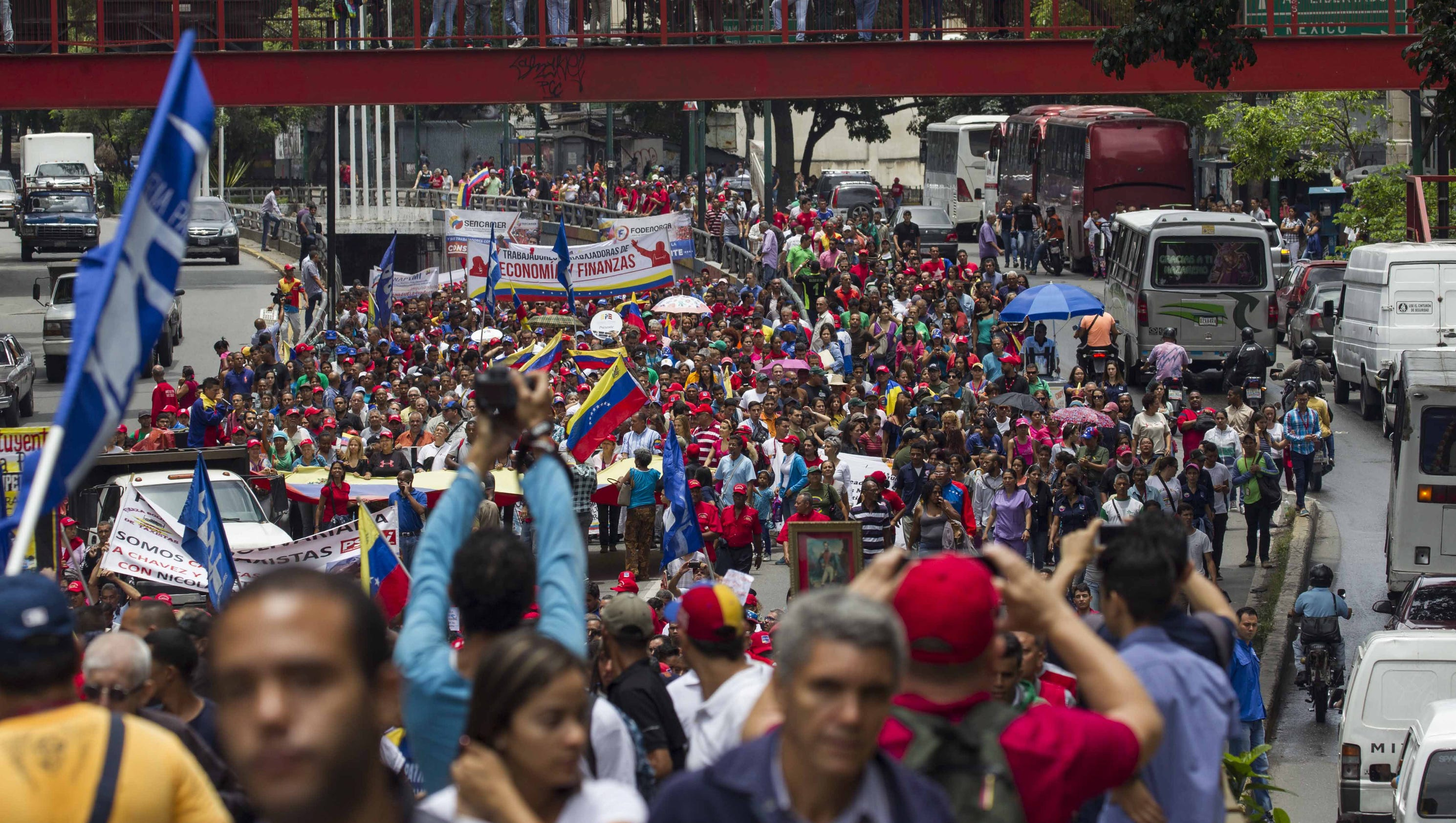 Trump's threat of 'military option' wins cheers from struggling Venezuelans