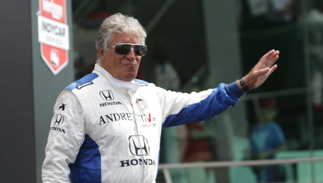 Mario Andretti stays active with IndyCar by driving the Indy Racing Experience's two-seater at Indianapolis Motor Speedway and other IndyCar tracks