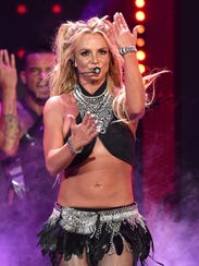 Britney Spears performs at the 2016 iHeartRadio Music