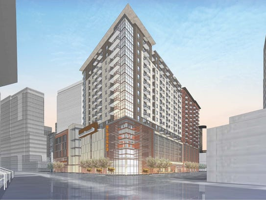 An artist's rendering of the Block 23 development shows