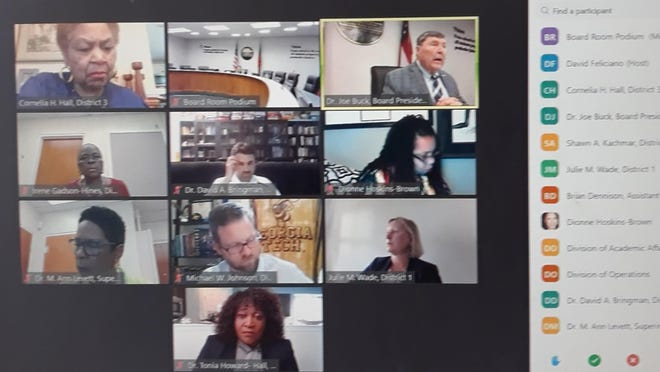 The Savannah-Chatham County Public School System board met via Zoom Wednesday, June 3.