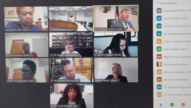 The Savannah-Chatham County Public School System board met via Zoom Wednesday, June 3.