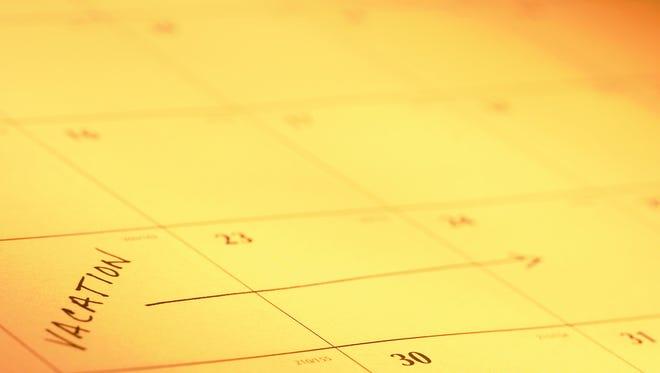 Business calendar: Sunday, June 1, 2014