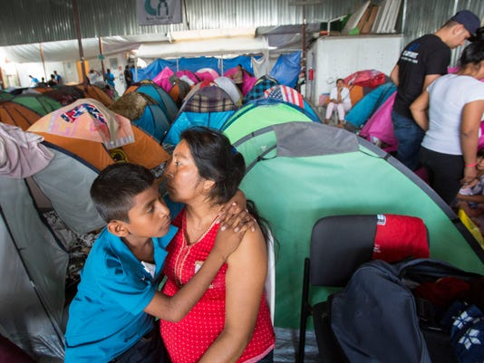 Migrants in Tijuana
