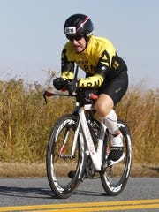 Nagel finished a 112 bike ride that was part of the IRONMAN.