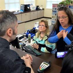 Watch | Rowan clerk Kim Davis turns away gay couple