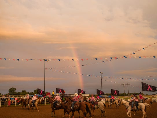 A scene from the 2016 Pink for Peitz Rodeo.
