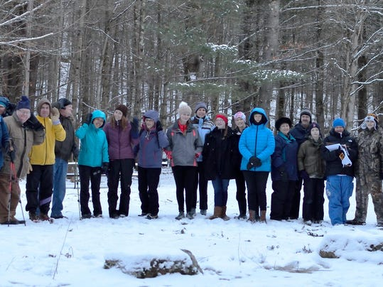 Owl Hoot Hikers Gather at the Trailhead photo courtesy of Lake Champlain Lan