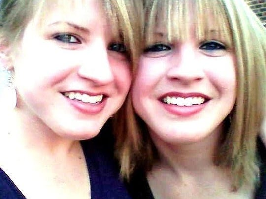 Sara, left, with her twin sister, Rachel. Sara was a few minutes older than Rachel and would occasionally joke with her about it, their aunt said.