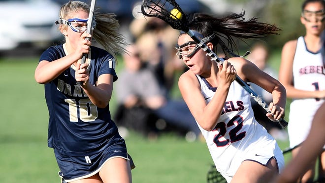 Saddle River Day's Michaela McMahon (No. 22) helped her team advance to a section title.