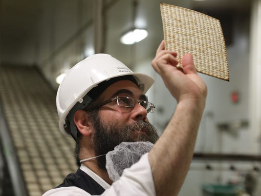 It's crunch time at the Manischewitz Company where they make the traditional matzo for Passover.