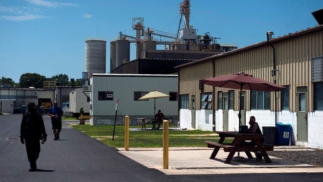 Lunchtime at Durand Glass Manufacturing Co. Friday, July 15 in Millville.