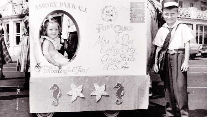 Fayette Hauser (left) and brother Tim Hauser at the 1948 Asbury Park baby parade.