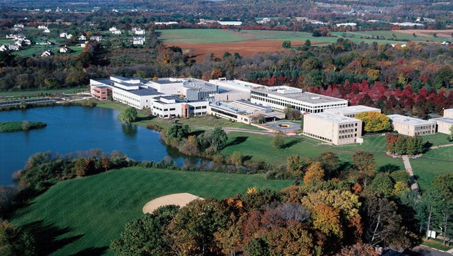 Bristol-Myers Squibb's 433-acre Hopewell Township campus features 33 buildings.