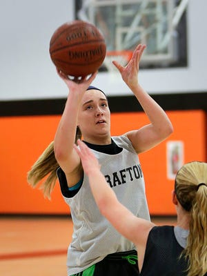 Hannah Belanger dropped in 20 points in Grafton's victory over Messmer on Nov. 18. Grafton won, 56-31.