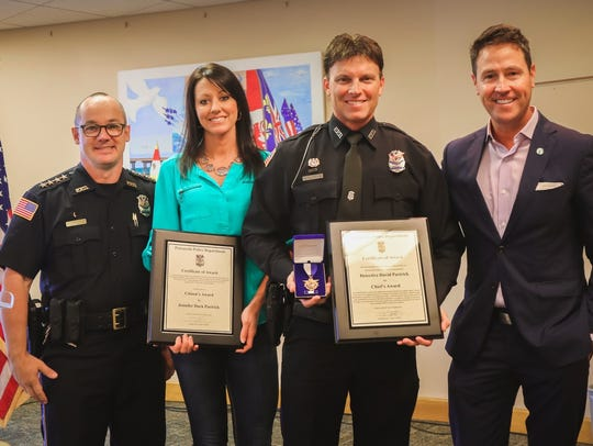 From left, Pensacola Police Department Chief Tommi