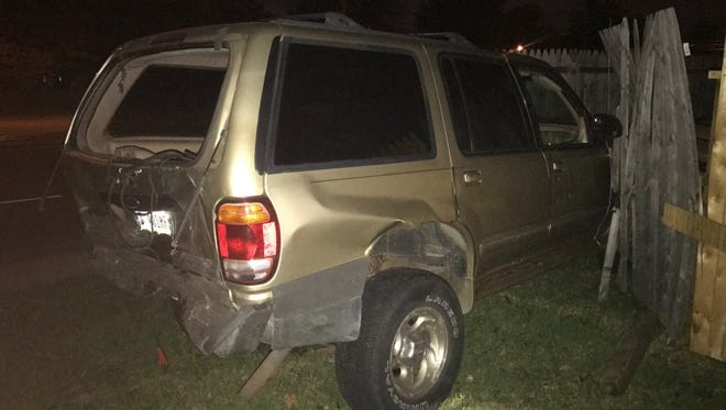 Three people were injured in a crash near 25th Street and Post Road in Indianapolis early Wednesday morning.