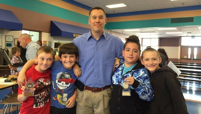 The Neutralizers, a combination of students from Ms. Flowers and Mr. Cantu's classes won fist place in the Math Bowl at White Mountain Elementary.