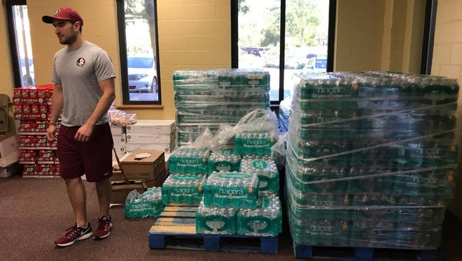 FSU officials are providing student-athletes food and water Saturday.