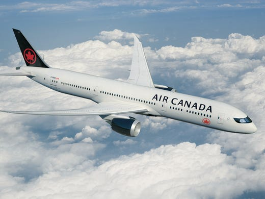 f226e372a085 This image released from Air Canada shows its new paint