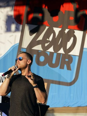 Lance Bass talks to the crowd during the 2019 PicktownPalooza celebration. The 2020 event has been canceled because of the COVID-19 coronavirus pandemic.