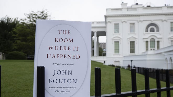 "A copy of ""The Room Where It Happened, by former national security adviser John Bolton, is photographed at the White House on Thursday."
