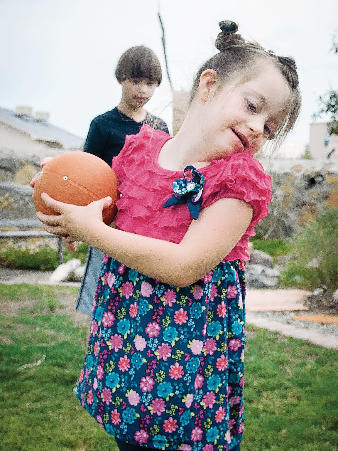 Pictured is 7-year-old Molly Hathway, the daughter