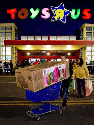 Toys R Us to be open 30 hours straight starting at 5 p.m. Thanksgiving Day.