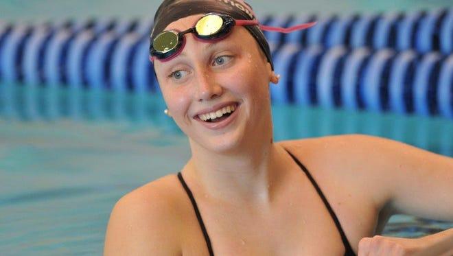 Carmel swimmer Amy Bilquist